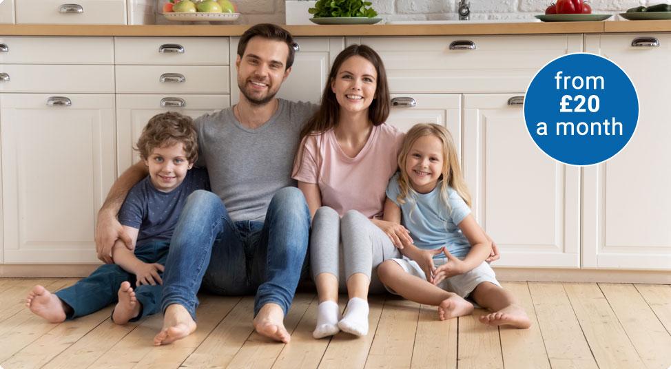 Homecare2 image - family sat on floor